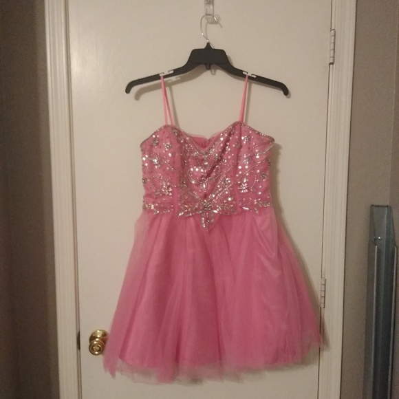 City Triangles Dresses & Skirts - Strapless Pink Homecoming Dress